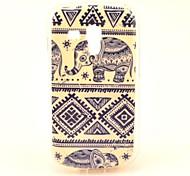 Elephant Tribal Teppich Muster weiche Tasche für Samsung Galaxy S 2 Duos S7582