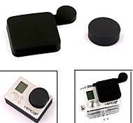 G-407-Black PANNOVO Professional Silicone Protective Lens Cap Set for GoPro Hero 3+ / Hero3 Plus