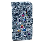 Popular Cartoon Pattern PU Leather Case with Money Holder Card Slot for Samsung Galaxy S3 I9300