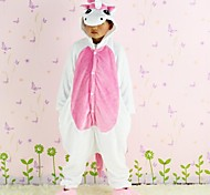 New Cosplay Pink Unicorn  Flannel Toilet version Children Kigurumi Pajama