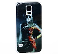 Kinston Female Officers Pattern Plastic Hard Case for Samsung S5 I9600