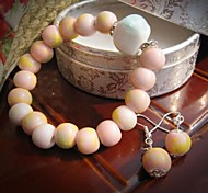 Candy Series Lovely Ceramic Jewelry Set (Including Bracelet, Earring)