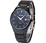 Men's Watch Dress Watch Calendar Casual Watch Steel Band Black Cool Watch Unique Watch