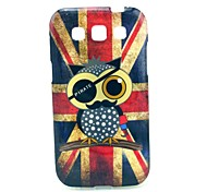 Retro UK Flag with Owl Pattern Soft Case for Samsung Galaxy Win I8552