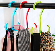Solid Color Multi-function Hanger Rack (Random Color,3 pcs)