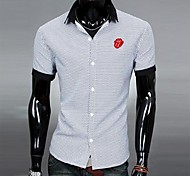 Camicia da uomo Collo Collo colore di contrasto T-shirt Fashion Casual