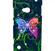 Sparkle Butterflies Pattern Hard Plastic Cases for Nokia Lumia 720/N720