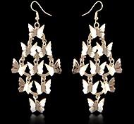 (1 par) europeu (rendas borboleta multicamadas), como brincos de liga de imagem (dourado)