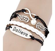 Style européen CROIENT Infini Wrap Bracelet