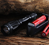 2000 LM CREE XM-L T6 5-Mode LED Flashlight + 2x18650 baterías + cargador