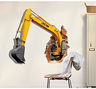 3D The Excavator  Wall Stickers Wall Decals