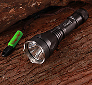 LED Flashlights / Handheld Flashlights LED 3 Mode 1000 Lumens Cree XM-L T6 18650 Multifunction - Others Aluminum alloy