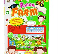 ABS Material Multi-Funcion Touch Voice Learning Book Educational toy (Fun Farm)