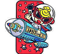 Astronauts in Space Pattern Silicone Soft Case for Samsung Galaxy S4 I9500