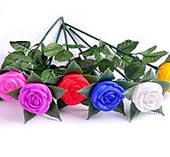 Multi-color Romantic Plastic Rose Flower with LED Light(Random Color)