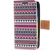 Colorful Stripe Style Leather Case with Card Slot and Stand for Samsung Galaxy S Advance i9070