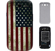 Retro USA-Flaggen-PC-Fest Akku Rückseite Gehäuse für Samsung Galaxy S3 i9300