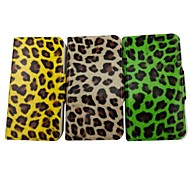 The Beauty of The Leopard Pattern PU Leather Full Body Case with Stand for iPhone 4/4S(Assorted Colors)