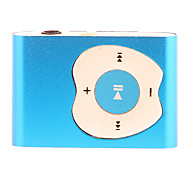 Apple Button Design Clip MP3 Player with TF Card Reader (Blue)