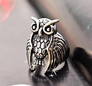Gothic Men's Owl Stainless Steel Ring Christmas Gifts