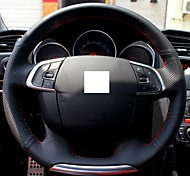 XuJi ™ Black Genuine Leather Steering Wheel Cover for Citroen C4 C4L C4 L New C4