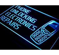 i216 Phone Unlocking Repairs Shop Neon Light Sign