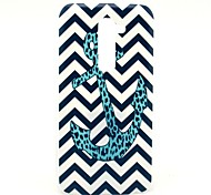 The Wave Leopard Anchor Pattern Hard Case for HTC G2/D801 Magic