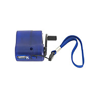 Mobile Phone USB Hand Winding Emergency Charger Search (Blue)