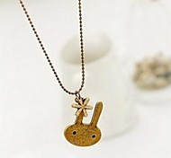 Snow Bunny Sweater Chain Long Female Pendant Necklace
