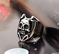 Lovely Men's Laughing Skull Stainless Steel Ring