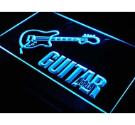 i137 Guitar World Displays Gifts Pub Neon Light Sign