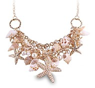 (1 Pc)Sweet (Sea World) as Picture Alloy Statement Necklace