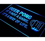 Beer Pong A Way of Life Bar Beer Neon Light Sign
