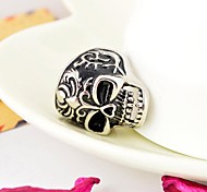 Men's Cast Metal Vitage Totem Skull Stainless Steel Ring