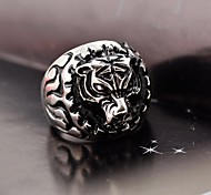 Domineering Men's  Stainless Steel Leopard Face Ring