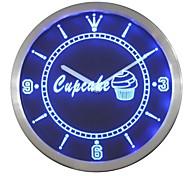 nc0441 Cupcake Cafe Coffee Shop Display Neon Sign LED Wall Clock