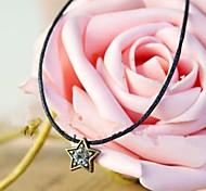 Simple cuerda pulsera Estrella Negro (1 pieza)