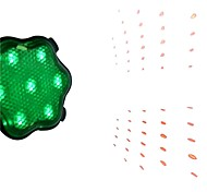 7-Mode 7-LED Babysbreath Bike Laser Tail Lamp (Green)