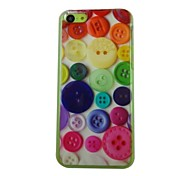 Beautiful Button Pattern PC Back Case for iPhone 5C