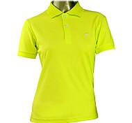 TTYGJ Women's Combed Cotton Short Sleeve Yellowish Green Golf Polo Shirt