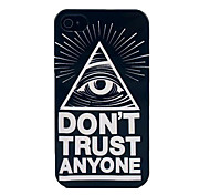 Don't Trust Anyone Eye Pattern Hard Case for iPhone 4/4S