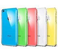 VORMOR® Solid Color Transparent Back Case for iPhone 5C(Assorted Color)