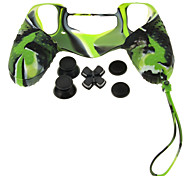 PS4 Protective Silicone Case with Chain + D-pad + Rocker Cap + Nonslip Silicone cap Set