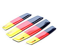 Simple Germany Flag Pattern Motorcycle Protector Trim Sticker (4 Pcs Kit)