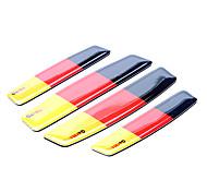 Patrón simple Alemania bandera de la motocicleta protector recorte parachoques (Kit 4 piezas)