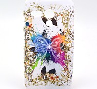 Big White Butterfly Pattern Hard Plastic Case for Motorala Moto G