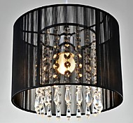 Black Brushed  Crystal Chandeliers with 1 Light