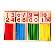 Wooden Number Math Game Sticks Box Toy
