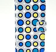 Волна Точка шаблон PU кожаный жесткий чехол с подставкой и Гнезда для платы для HTC Desire 310