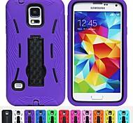 Two-in-One Vertraglich Stripe Design PC und Silikon-Hülle mit Ständer für Samsung i9600 Galaxy S5 (verschiedene Farben)
